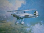 Hawker Fury II by Gerald Coulson - offset lithograph reproduction vintage fine art print