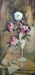 Wild Roses by Robert (R.F.) Harnett - offset lithograph reproduction vintage fine art print