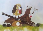 Time Out by Wendy Tosoff - offset lithograph reproduction vintage fine art print