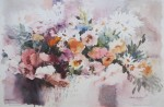 Summer Blooms by Dawna Barton, titled and signed by artist and numbered 588/950 - offset lithograph limited edition vintage fine art print