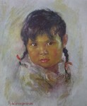 """Starlight: Indian Papoose by Nicholas de Grandmaison, numbered en verso as """"I""""-29 - offset lithograph limited edition vintage fine art print"""