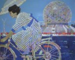 Girl In Motion by Robert Genn, titled, numbered Artist's Proof 20/100 & signed by artist, The Expo'86 Collection poster for Vancouver, B.C. - offset lithograph limited edition vintage poster art print