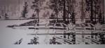 Nita Lake Pattern by Robert Genn, Artist's Proof, titled and signed by artist - offset lithograph limited edition vintage fine art print