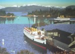Nanaimo Harbour by Edward John (E.J.) Hughes, from the Vancouver Expo'86 Discovery Series - offset lithograph reproduction vintage poster art print