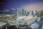 Vancouver Harbour Expo'86 by Barry Lundahl, numbered 201/950 and signed by artist - offset lithograph limited edition vintage fine art print