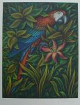 Macaw by Volker Kühn (ie. Volker Kuehn) - original hand-coloured etching - numbered 11/300, signed and dated '86 in pencil by artist