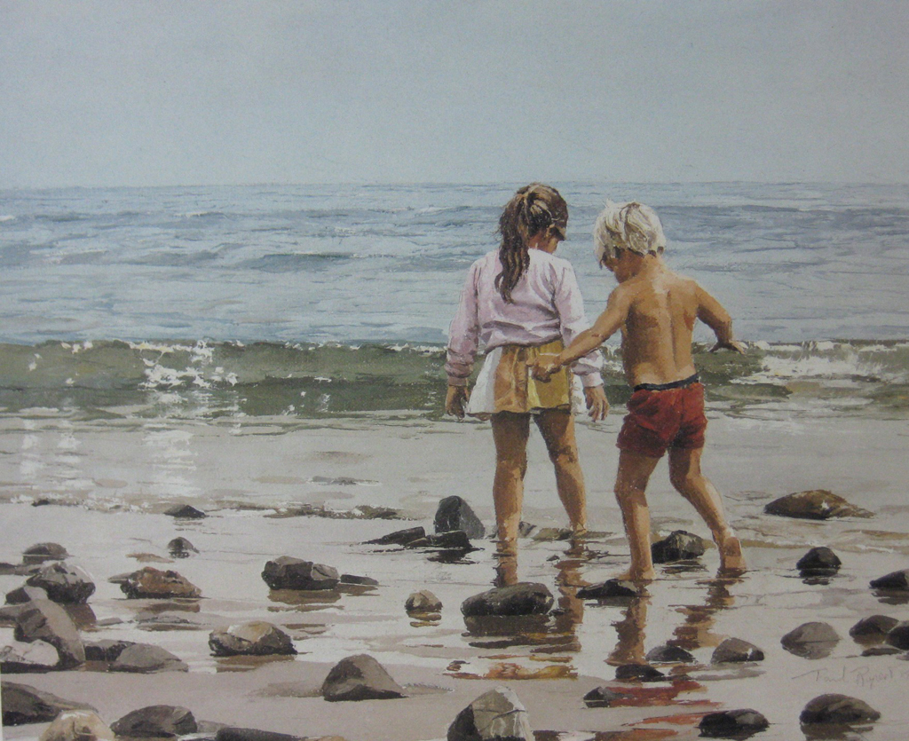 KerrisdaleGallery.com - stock ID#RP235ph-snt - Low Tide by Paul Rupert - Limited Edition 235/950, 1987 offset lithograph; numbered, titled and signed in pencil by the artist