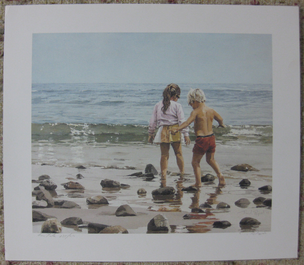 KerrisdaleGallery.com - stock ID#RP235ph-snt - Low Tide by Paul Rupert, shown with full margins - Limited Edition 235/950, 1987 offset lithograph; numbered, titled and signed in pencil by the artist
