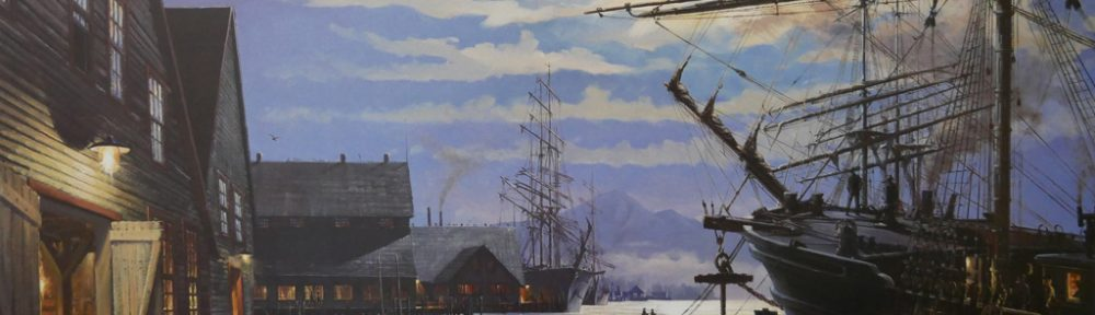"""KerrisdaleGallery.com - Stock ID#HJ057ph-snt - """"Loading for the Morning Tide"""" by John M. Horton C.S.M.A. F.S.A. - vintage 1987 limited edition print, offset lithograph, signed by artist, numbered 57/450"""